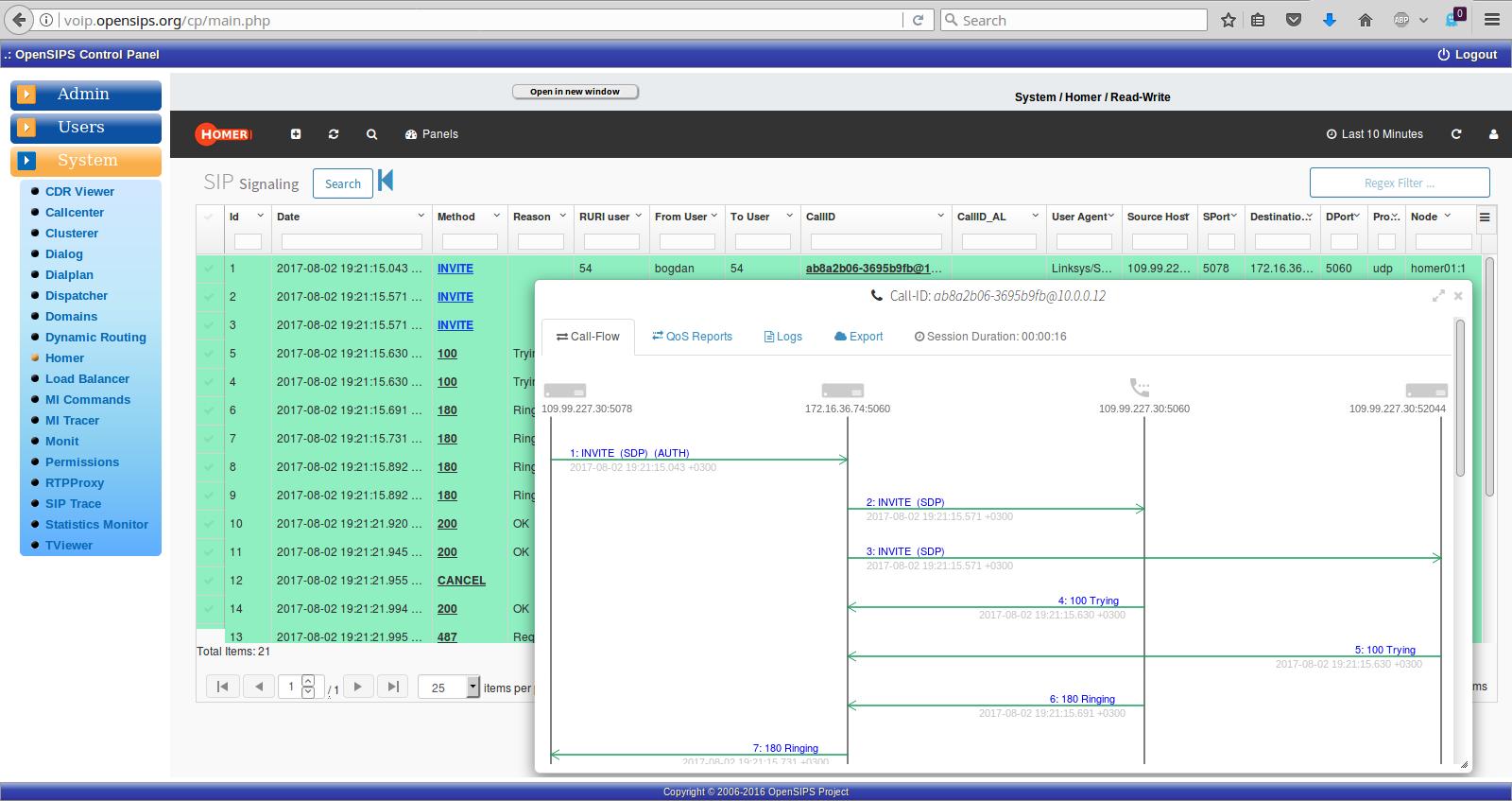 오픈소스 OPENSIPS 인스통 install - OpenSIPS Control Panel